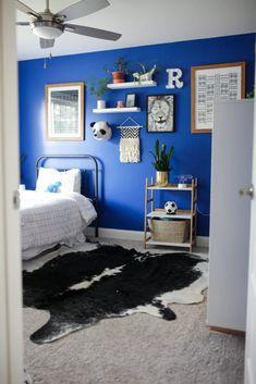 Bright Blue Boy's Bedroom - Paisley + Sparrow