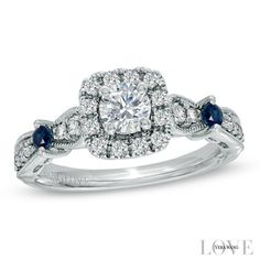 Vera Wang LOVE Collection 0.70 CT. T.W. Diamond Vintage-Style Ring in 14K White Gold - Peoples Jewellers Vera Wang LOVE Collection 0.70 CT. T.W. Diamond Vintage-Style Ring in 14K White Gold - - View All Rings - Peoples Jewellers
