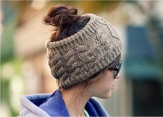 2016 Fashion Ladies Knitted open top Beanie