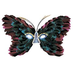masquerade masks | Pink And Blue Feather Butterfly Mask - Mardi Gras Or Masquerade Masks