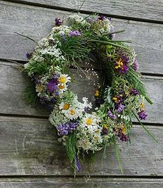 We like to make flower crowns.. Flower crown from Midsummer night you should save till next year's Midsummer night; then - burn it.