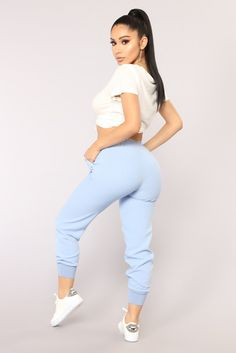 Leyle Jogger Pant - Blue