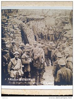 WW1, 1916, Verdun, dressing station.