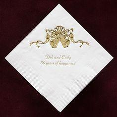 Gold Bell Napkins weddingneeds.carlsoncraft.com