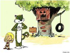 Calvin & Hobbes as He-Man & Battlecat