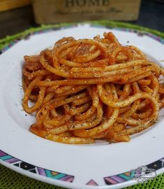 Great Pasta Recipes, Food Decoration, Onion Rings, Nutella, Recipies, Spaghetti, Food And Drink, Cooking, Healthy