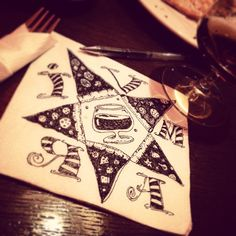 «#BANSKO #IVMAR #SKETCH #NAPKINART #PIZZA #WINE #TATTOO #IDENTITY»