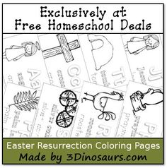 Free Instant Download: Easter Resurrection Coloring Pages
