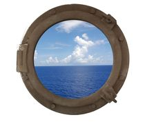 Sandy Shore Decorative Ship Porthole Window 20""