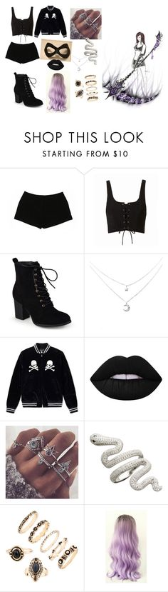 """""""gemini"""" by mea-cross ❤ liked on Polyvore featuring Express, Journee Collection and Lime Crime"""