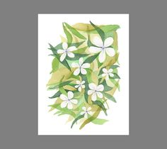 Flower Download Print. Botanical download. Floral watercolor painting. Flower watercolor printable. Flower illustration print download.