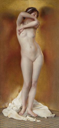 William McGregor Paxton - Glow of Gold, Gleam of Pearl, 1906 (2378×5110)