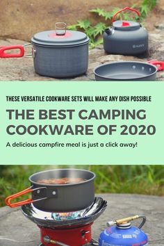 The 6 Best Camping Cookware Sets of 2020 - Globe Trotter Guides Packing Tips For Travel, Budget Travel, Tent Camping, Camping Hacks, Must Have Travel Accessories, Cool Tents, Campfire Food, Sleeping Bags, Cookware Set