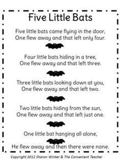 FIVE FURRY BATS: A COUNTING GAME FOR LITTLE LEARNERS - TeachersPayTeachers.com