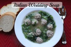 Italian Wedding Soup recipe. Made from scratch and so worth the time and effort. Flavorful meatballs and escarole make this soup a delicious meal!