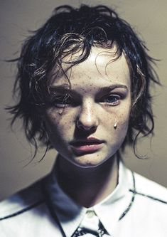 Portrait of grief