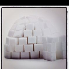 A sugar cube igloo! SO doing this this year!!!