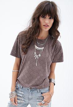 T-Shirt mit Sternanis-Druck - Oberteile - 2000119295 - Forever 21 EU