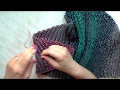 Pletení trojúhelníkového šátku od cípu 2. díl ubírání, knitting scarf - YouTube