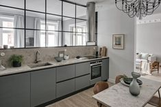 Stylish turn of the century home in grey and beige - via Coco Lapine Design Built In Furniture, Refurbished Furniture, Cheap Furniture, Kitchen Furniture, Furniture Outlet, Furniture Dolly, Furniture Online, Discount Furniture, Patio Interior