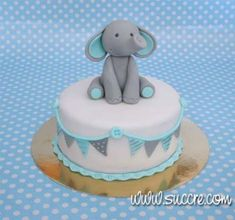 19 ideas for baby shower cake pasteles Torta Baby Shower, Baby Shower Cupcakes, Elephant Baby Shower Cake, Elephant Cakes, Baby Shower Cakes For Boys, Baby Cakes, Cupcake Cakes, Cakes Without Fondant, Fondant Baby