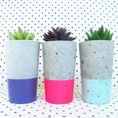 www.nothingbutvintage.com.au Urban Decor concrete planters, Tealights, bowls, office stationary & stools in metallic, pastel, geometric, marble, bright colour & monochrome.