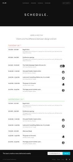 Circles   schedule