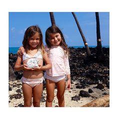 All you need is LOVE! Today tomorrow and ALWAYS.   #kimi_and_li_bikini #kidsbikinis Ava #bikini and Long Sleeve Rash Guard Set in #peaches print