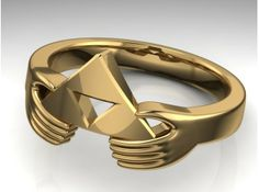 The Legend of Zelda Triforce Ring  by Lifestyle_Designs_Jewellery