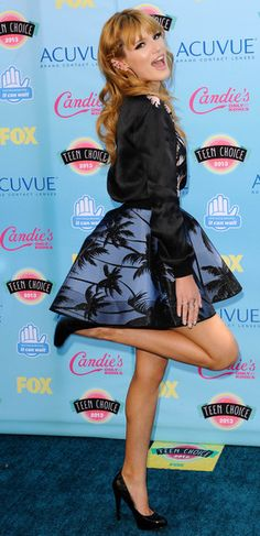 Bella Thorne arriving at the 2013 Teen Choice Awards in Universal City, California - Aug 11, 2013 - Photo: Runway Manhat