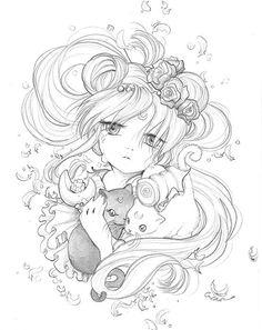 Sailor Moon, Luna and Artemis by Camilla d'Errico