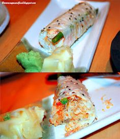 baked crab hand roll at Ozumo in Santa Monica