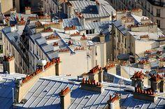 Paris Rooftops, Little Paris, Green Houses, Old Buildings, Terraces, Tour Eiffel, Soul Food, Times Square, Landscapes