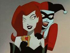 Poison Ivy & Harley Quinn #villain #batman #gif