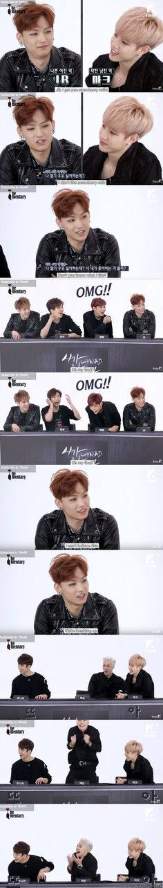 When GOT7's Hyung Line break up...over strawberry milk XD | allkpop Meme Center