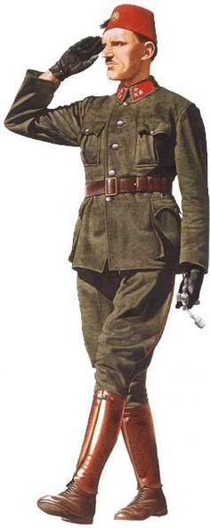 WWII. - 1942. - Croatia / NDH - 13. Waffen SS Division Handshar - Croatia Army officer