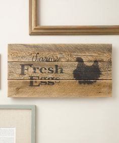 Look at this Black 'Farm Fresh Eggs' Chicken Wall Décor on #zulily today!