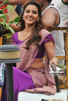 Priya in purple.