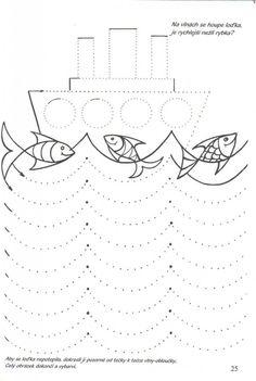 sailboat trace worksheet (2) | Crafts and Worksheets for Preschool,Toddler and Kindergarten
