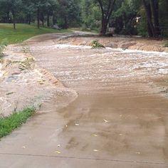 Boulder Creek Flowing onto CU campus