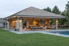 outdoor living concepts seamlessly translate the sensory experience of the Hamptons into exquisite outdoor living spaces. Backyard Pavilion, Backyard Patio Designs, Pergola Designs, Backyard Landscaping, Patio Ideas, Pergola Kits, Backyard Kitchen, Outdoor Kitchen Design, Home Bar Plans