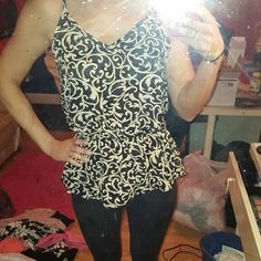 Black and White Patterned Peplum Tank Black and white patterned peplum! Never worn! Hard to tell the shape in the photo..I can add more pics if needed! Love Culture Tops Tank Tops