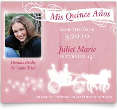 Quinceañera Save the Date Cards - Magical Moment | quinceanera ...