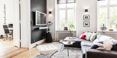 Modern black & white apartment design
