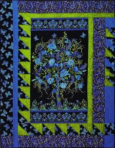 Designs to Share with You quilt pattern - Add-A-Border - designed by Ursula Riegel  Make use of those gorgeous panels and large-scaled prints out there!  Any panel or large-scaled print can be used in the center of this project. The quilt pattern provides instructions on adjusting the