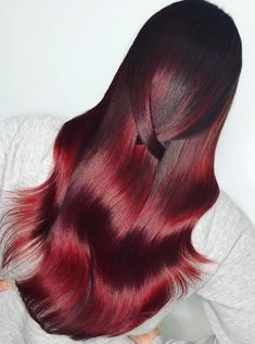 Same red and a less bright light. Love the depth and richness of this color ❤️ you guys know I love a good Red! Long Red Hair, Very Long Hair, Long Curly Hair, Curly Hair Styles, Bun Hairstyles For Long Hair, Pretty Hairstyles, Hair Color Highlights, Hair Colour, Beautiful Long Hair