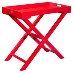Found it at Wayfair - Leo Accent Table in Hot Red