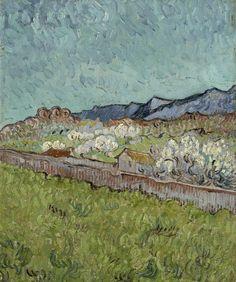 Винсент Ван Гог: Вид на гору Альпиль в Провансе                Музей ван Гога, Амстердам (Van Gogh Museum, Amsterdam). 1889. 33x28