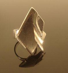 Lapponia sterling ebony ring
