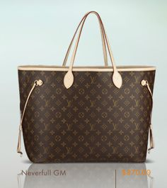 Louis Vuitton! My new bag!!  Neverfull-MM,  I love it!!!  But I got the medium size, this one is too small!